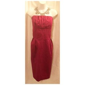 NEW Plus Size Newport News Strapless Magenta Dress